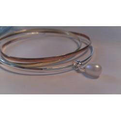 Pearldrop colourful bangle