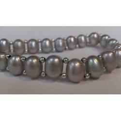Gray elastic braclet