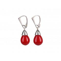 Red drop silver cone