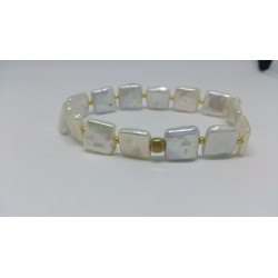 Scuare pearls braclet