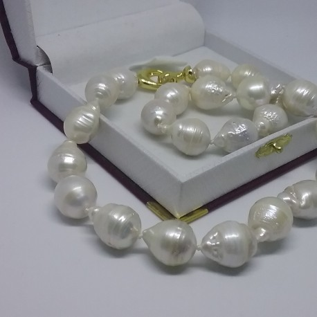 baroque white sea american south necklace pearls slide pearl semi
