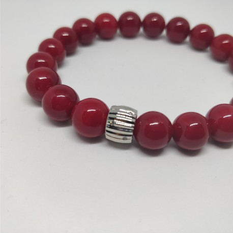 Red pearls braclet