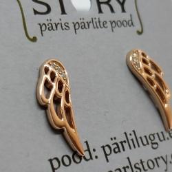 Angel wings silver earrings