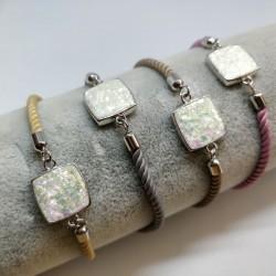 Opal in silky bracelet