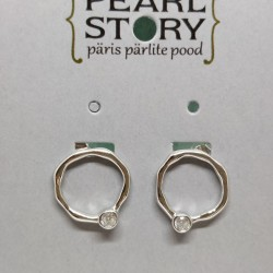 Ring with zircon stud earrings