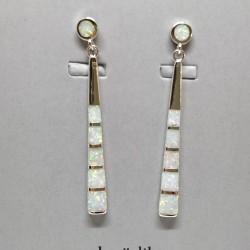 Opal dangling earrings