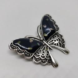 Butterfly brooch paua shell