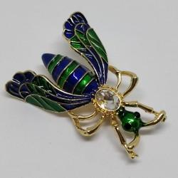 Beetle blue-green brooch