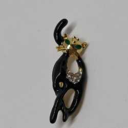 Black cat brooch