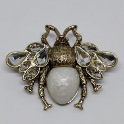 Antique gold bug brooch