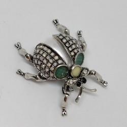 Pearl bug brooch