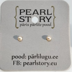 Tiny pearl studs