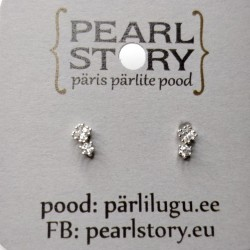 Double drops stud earrings
