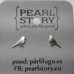 Bird stud earrings