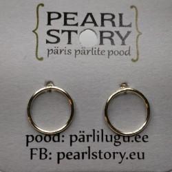 Ring stud earrings
